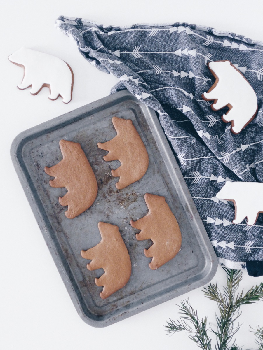 Spiced and Iced Polar Bear Ginger Bread Biscuits