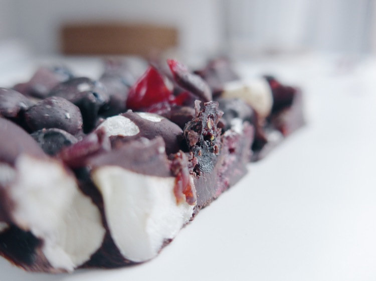 Not so hangry anymore dark chocolate, berry, nut and sea salt bars all that she craves