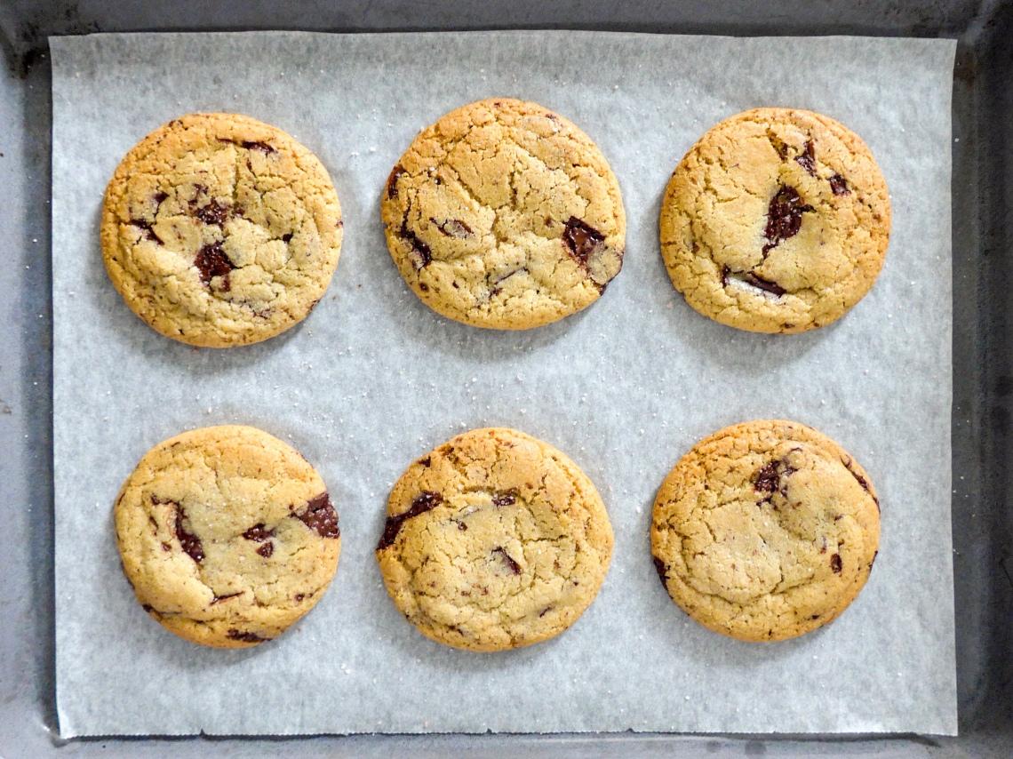 Chocolate Chunk Cookies for Grey Rainy Days on allthatshecraves.com