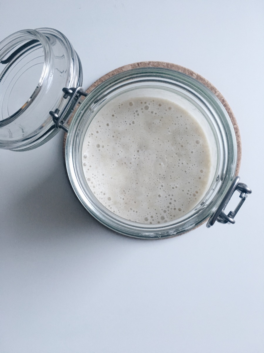 Sourdough September. Getting Started with a sourdough starter, crumpets and a loaf.