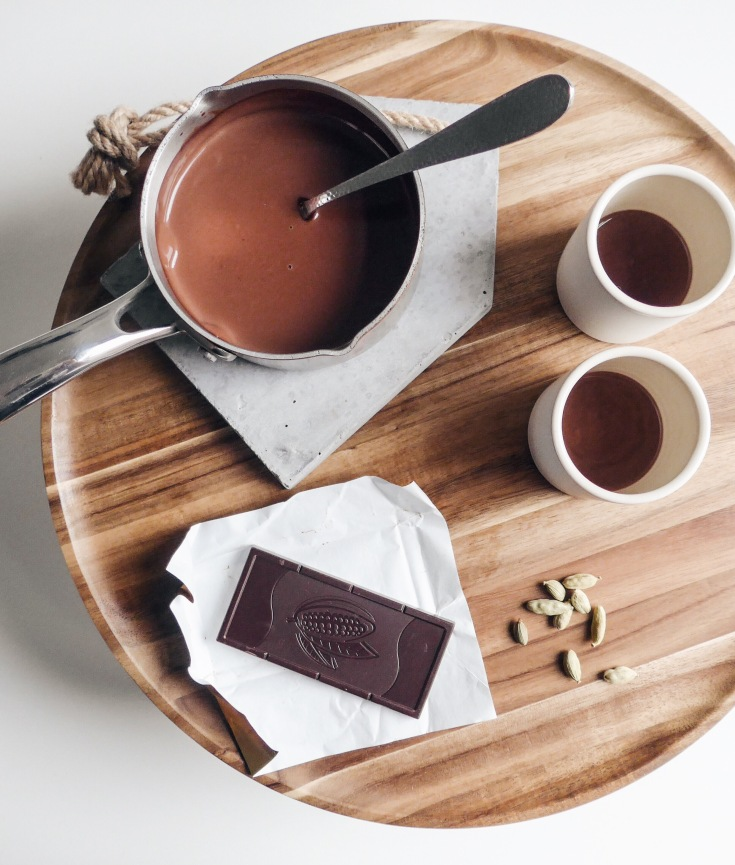 Thick Parisian Hot Chocolate with Cardamom and Sea Salt | recipe