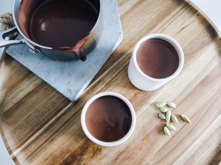 Thick Parisian Hot Chocolate with Cardamom and Sea Salt | recipe